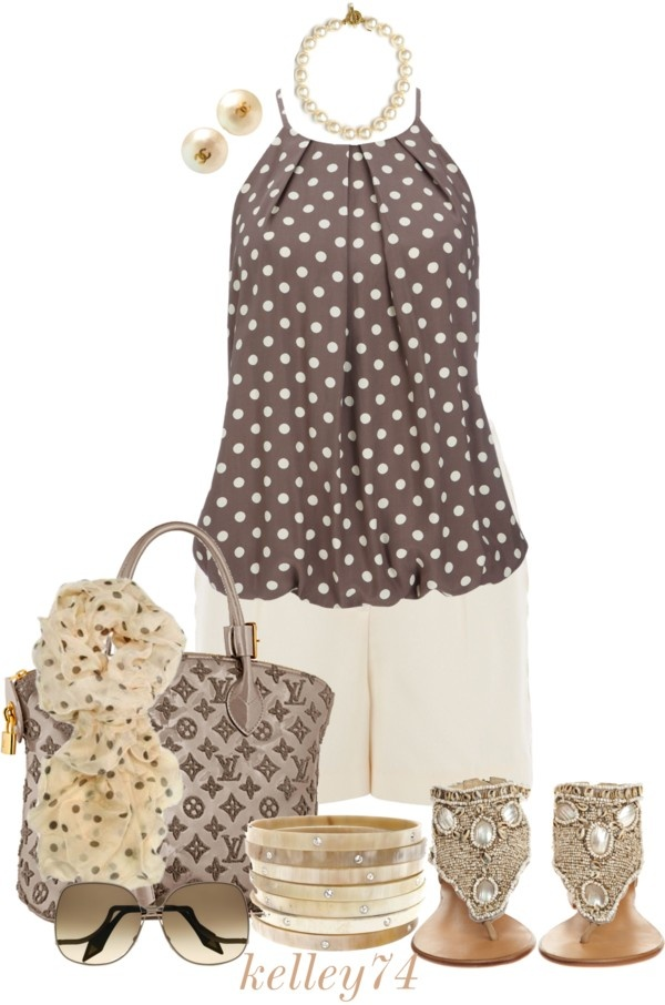 """Halter Dot"" by kelley74 on Polyvore"