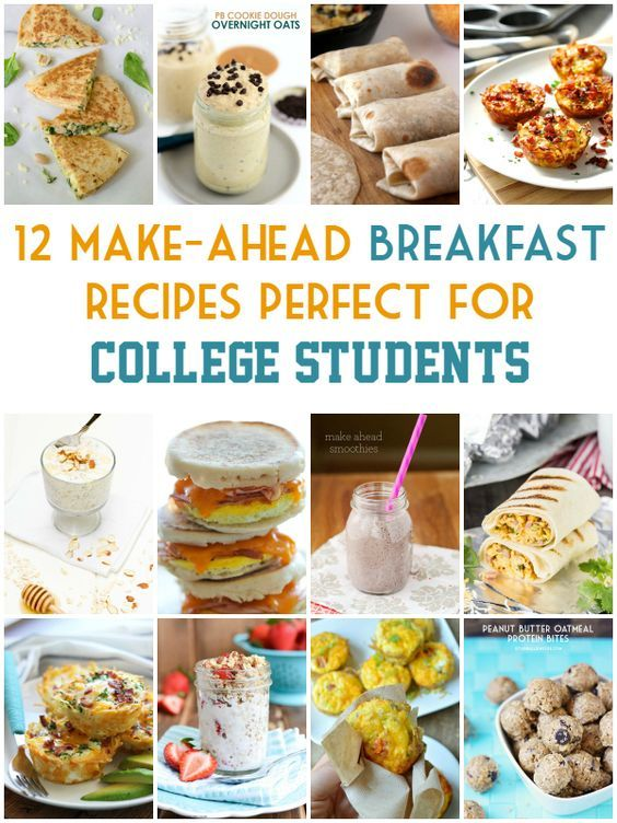 12 Make-Ahead Breakfast Recipes Perfect for College Students - short list of ingredients and little time required. Perfect for students on the go!  | isthisreallymylife.com