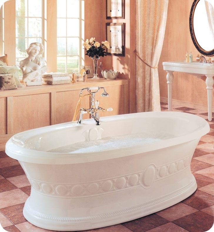 35 best bathtubs images on pinterest bathtubs soaking for Best soaker tub for the money