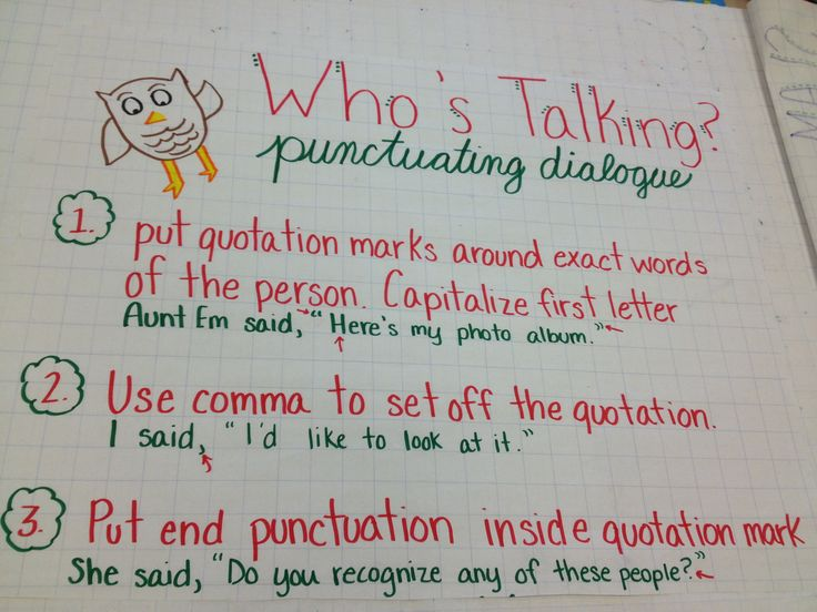 punctuating dialogue anchor charts pinterest