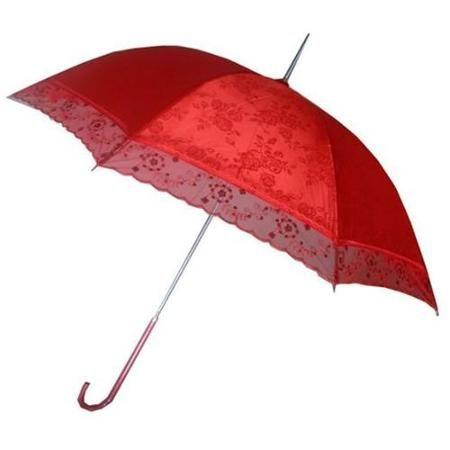 Red umbrella inn wedding