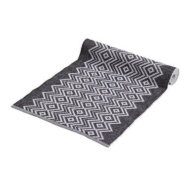 Diamond Rib Runner   Black & White   35x140cm   Decorating Details @ The Home
