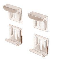 """CRL Nickel Plated """"J"""" Mirror Clip Set by CR Laurence by CR Laurence. $7.00. Color: Nickel Plated Plastic Lined to Protect Mirror Back Against Scratching Bright Nickel Plated Finish These CRL """"J"""" Mirror Clip Sets are designed with raised back ribs so the screw head is flush with the clip, away from the mirror backing, which reduces the chance of scratching. Each Mirror Clip Set includes four clips, screws and plastic liners.Important NotesUse screw anchors or t..."""