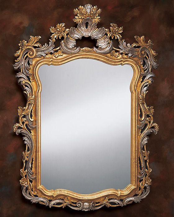 17th Century Venetian Style Mirror With Leaf And Floral Design In