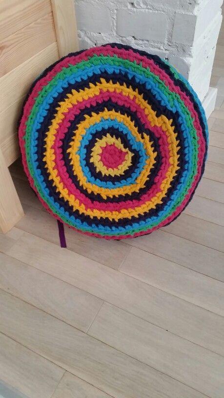 Yoga cushion in colour this time:)