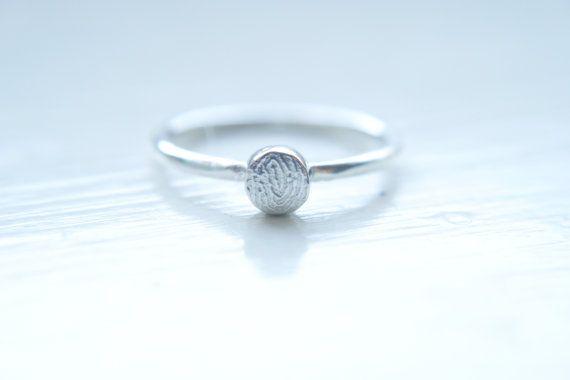 Fingerprint jewellery Fingerprint ring Memorial