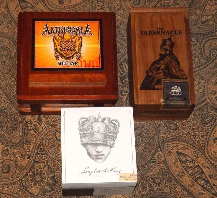 Ambrosia The Tabernacle & More Wooden Cigar Boxes Crafts Storage Jewelry Box 3