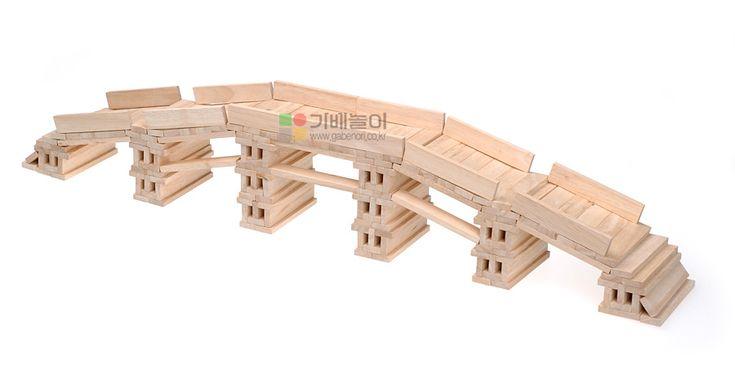 kapla voor kleuters, brug