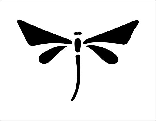 Dragonfly Solo stencil from The Stencil Library BUDGET STENCILS range. Buy stencils online. Stencil code CS65.