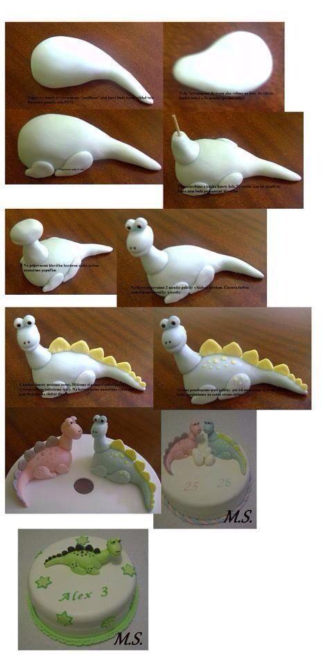Cake decorating, dinosaur