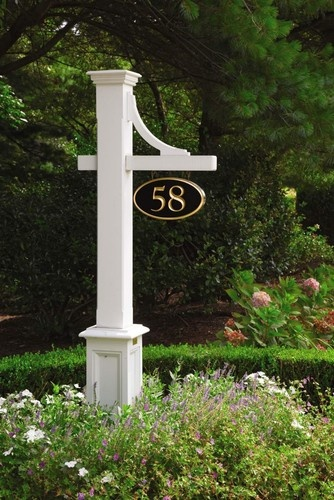 Fence and outside structures near the coast - traditional - house numbers - other metro - Walpole Woodworkers