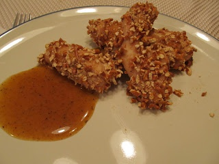 Honey Mustard Pretzel Crusted Chicken Tenders (Freeze ahead)