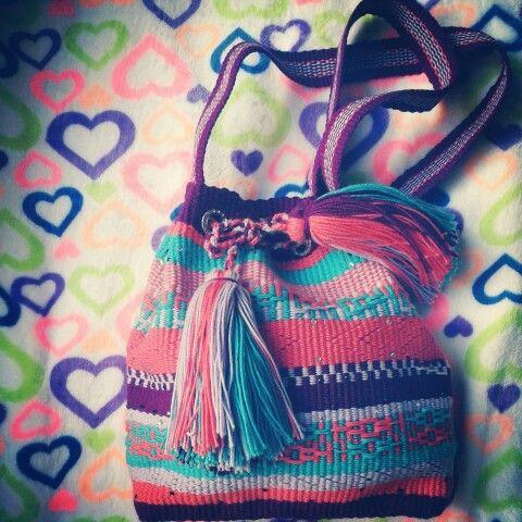 Bolso en telar wayuu