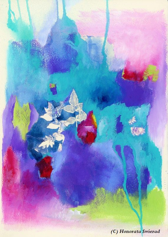 Mixed media by Honorata Swierad https://www.facebook.com/honorataswieradart #mixedmedia #abstractart #intuitiveart #artistsonpinterest