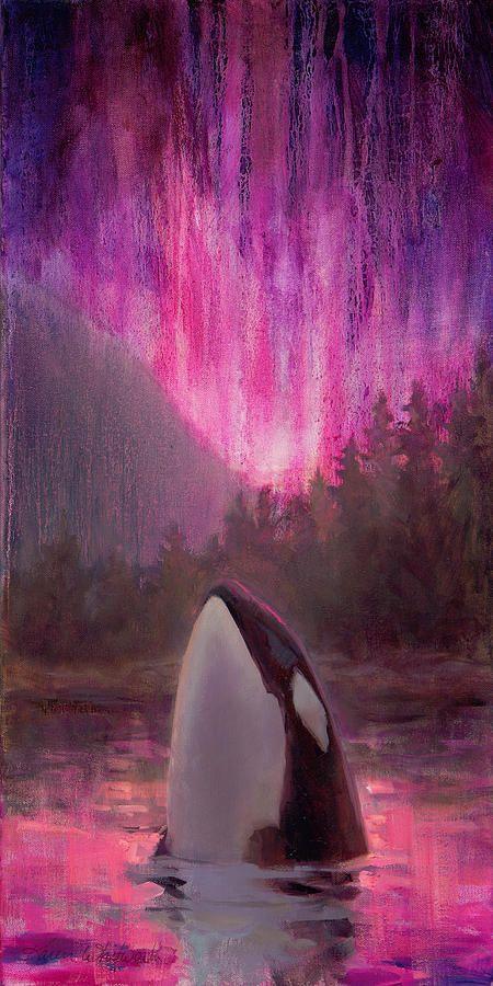 Aurora Orca Painting
