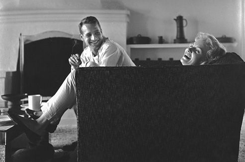the handsome Paul Newman and his wife of 50 years, Joanne Woodward. One of the few Hollywood couples to stand the test of time.