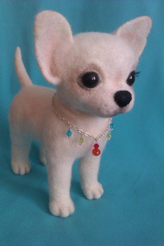 Чихуахуа Буся. в каталоге Игрушки на Uniqhand - белый, подарок, сувенир, шерсть 100 %