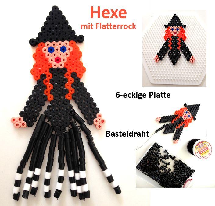 Witch Halloween hama perler beads