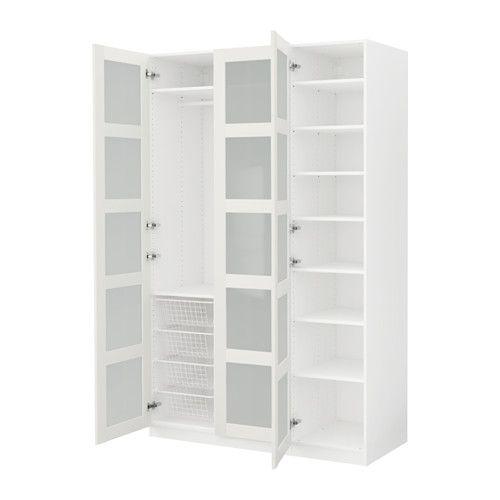 IKEA - PAX, Armario, bisagra cierre suave, , 10 años de garantía. Consulta las condiciones generales en el folleto de garantía.Utiliza la herramienta de planificación PAX para adaptar esta combinación PAX/KOMPLEMENT a tus gustos y necesidades.Gracias a las bisagras con amortiguador la puerta se cierra despacio, suave y en silencio.Al tener una estructura de poco fondo, es ideal para espacios pequeños.Si quieres organizar el interior, puedes añadir los accesorios de interior de la serie…