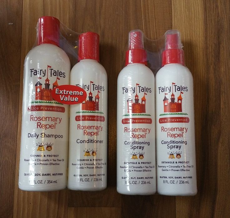 Medicated Hair Treatments: Fairy Tales Lice Prevention 12Oz Shampoo, 8Oz Conditioner, 2X 8Oz Hair Spray BUY IT NOW ONLY: $35.95