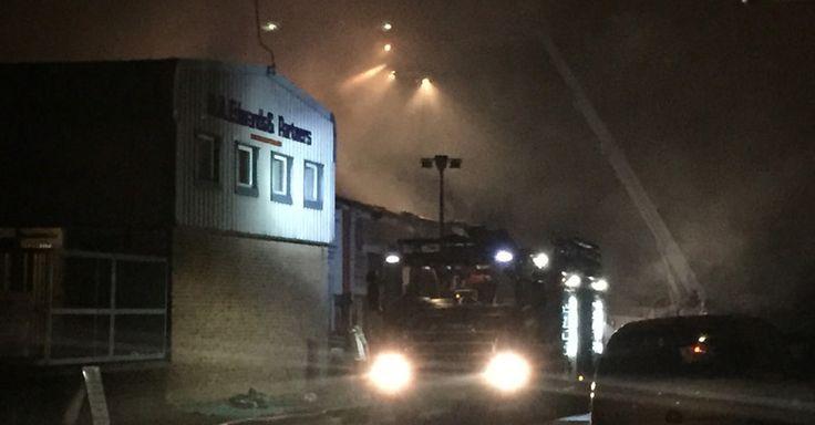 Massive blaze at fireworks store captured on video by onlooker