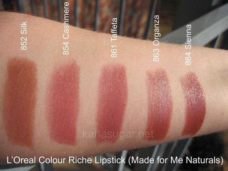 Loreal Colour Riche Swatches Made For Me Naturals Silk