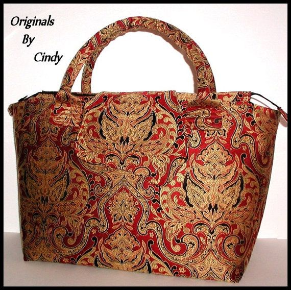 Red And Gold Carpet Bag Tapestry Extra Large Tote Bag Brick Red Black Overnight Bag Lots Of Pockets Cream Taupe Huge Big Water Bottle Pocket