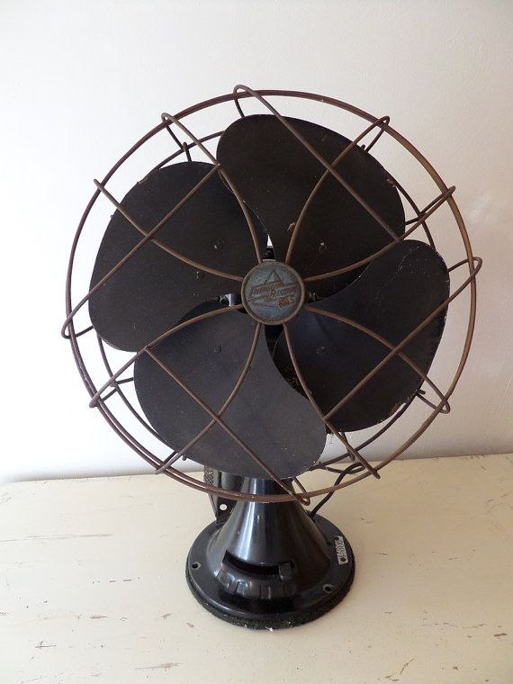 Industrial Size Fans : Vintage industrial fan emerson electric antique black nice