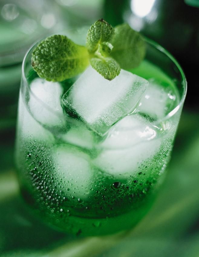 Green Spider -- This minty cocktail blends creme de menthe with a shot of rum.