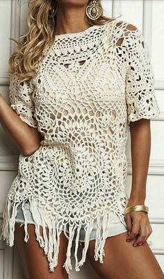 Luty Crochet Arts: crochet blouse with graphic