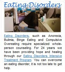 We work with individuals from around the world and provide treatment for eating disorders