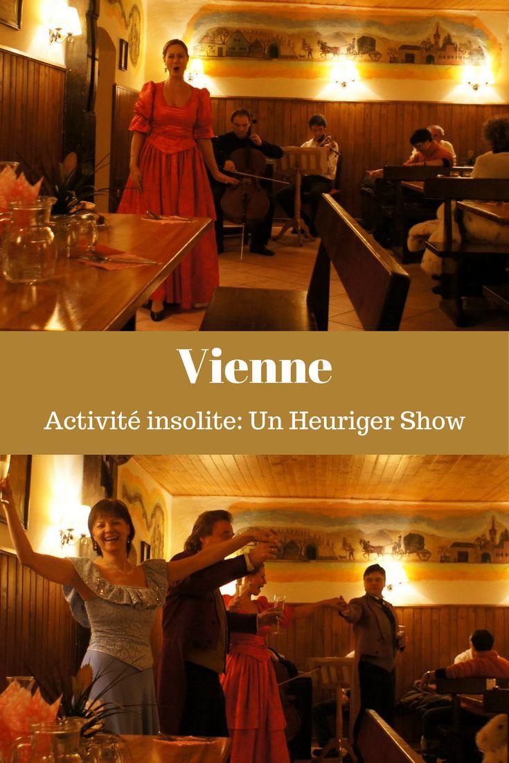 Autriche: idée insolite de restaurant à Vienne. Le Heuringer c'est une vieille tradition autrichienne... des tavernes où on sert une cuisine simple et traditionnelle, du vin de la récolte de l'année mais où on peut aussi assister à un spectacle de danse et musique traditionnelle live. Un diner-spectacle pas comme les autres à découvrir. #autriche #heuriger #vienne #restaurant #insolite