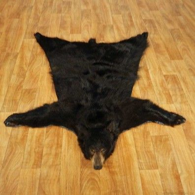 Black Bear Full-Size Taxidermy Rug #13379 For Sale @ The Taxidermy Store