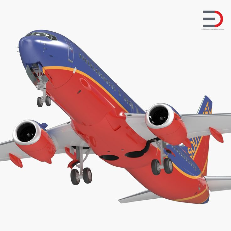 Boeing 737-800 with Interior Southwest Airlines 3D