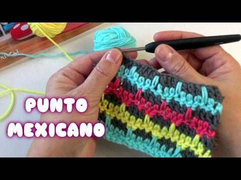 PUNTO CROCHET MEXICANO|| CURSO DE PUNTOS EN CROCHET - YouTube