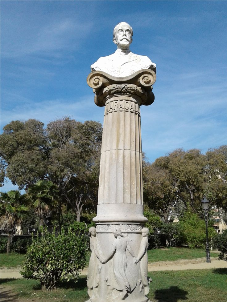 Located in Parc de la Ciutadella. This statue is of Joan Maragall, a Spanish Catalan poet and journalist who gave rise to the Catalan Modernism movement.
