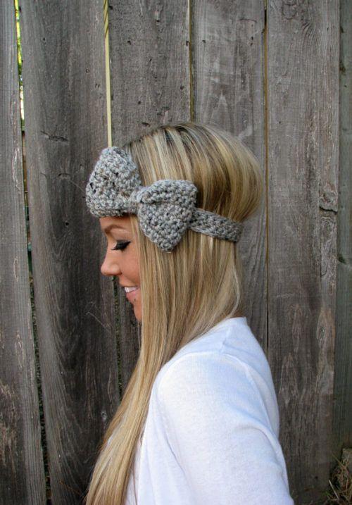 Crochet Bow Headband                                                                                                                                                                                 More