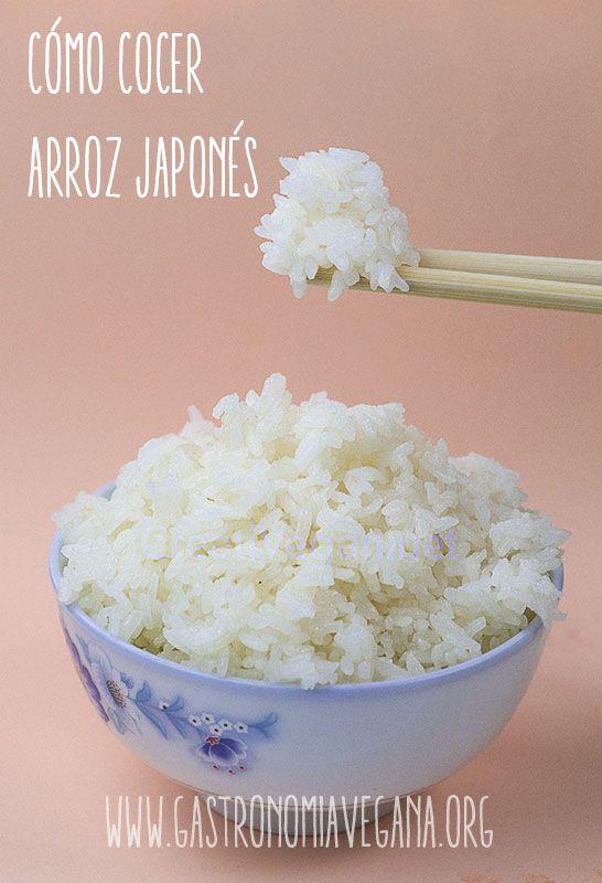Cómo cocer arroz japonés | Gastronomía Vegana