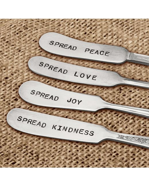 Hand Stamped Flat Cheese Knife Set - Perfect hostess gift for a holiday party!   http://www.countryoutfitter.com/products/82211-hand-stamped-flat-cheese-knife-set