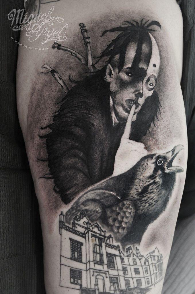 Hoodoo man (Original art by Brom©) crow and asylum tattoo