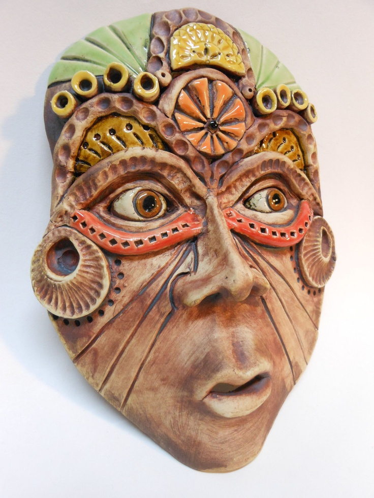 A Woman of Means Ceramic Wall Mask