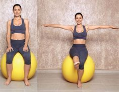 Exercícios com bola para tonificar o abdome Treino localizado