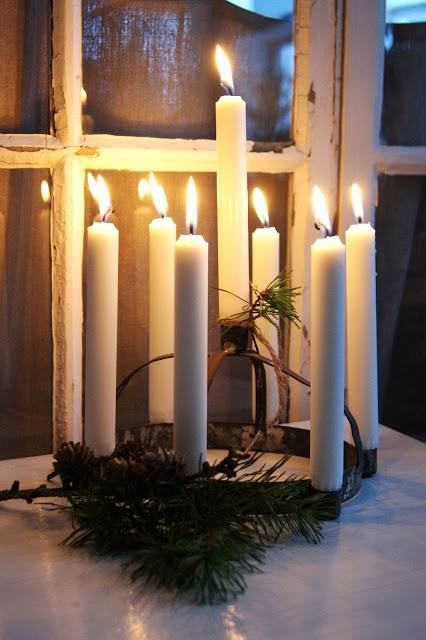 Lantliv i Norregård Christmas candles