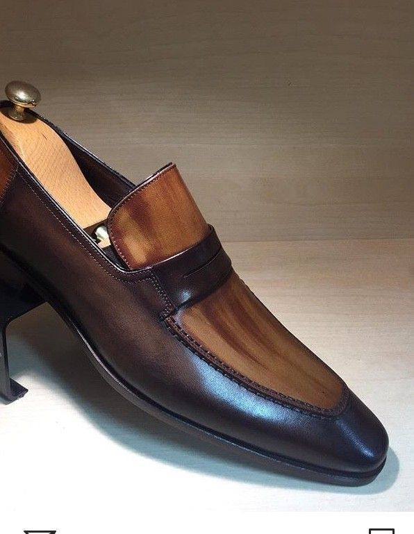 3e1da3a2151 Handmade Men two Town formal shoes