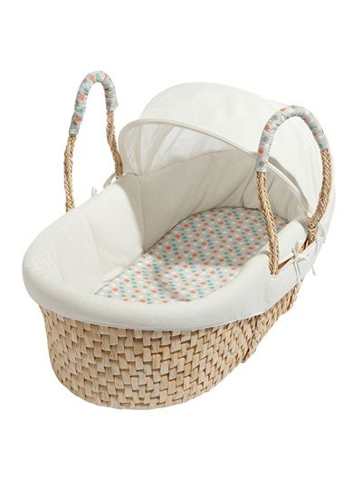 Couffin dappoint bébé collection bio BLANC CASSE - vertbaudet enfant