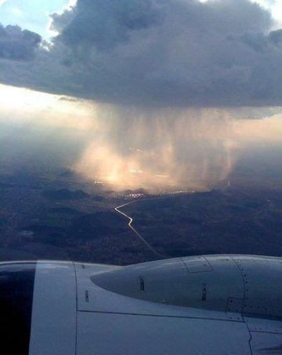 raincloud from plane view