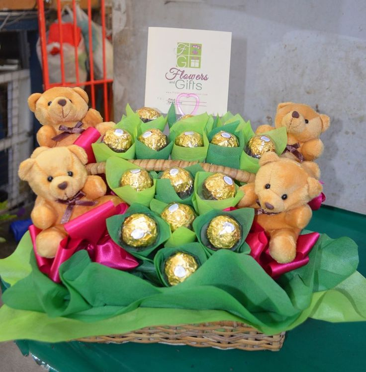 Fondness Chocolate Bouquet by FG Davao  #chocolates #chocolatebasket #basketofchocolatesandbears #gift #giftsdavao #sendgifts #giftideas #crafts #giftshop #fgdavao