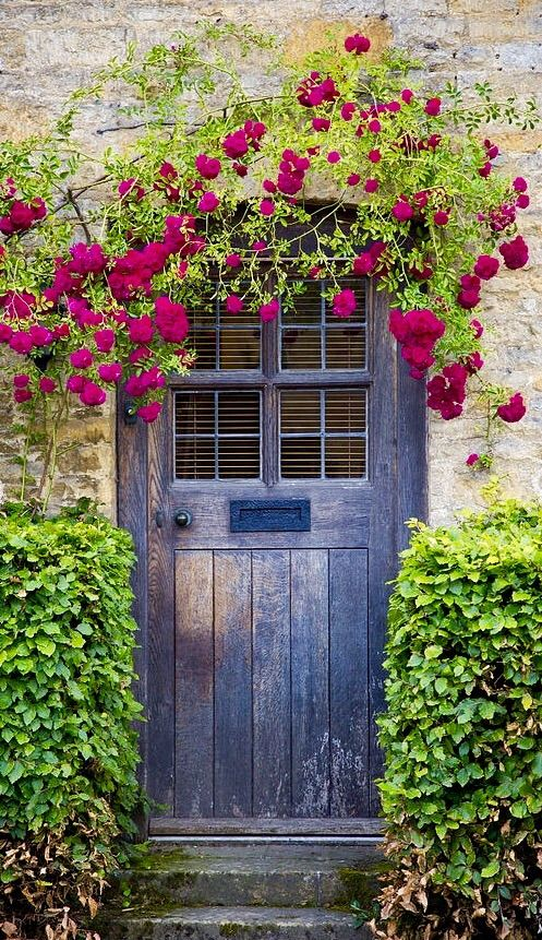 Pretty door in Gloucestershire, England