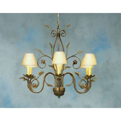 2nd Ave Design Bordeaux 6-Light Shaded Chandelier Finish: Antique Iron Gate, Shade: Black Silk Pleat