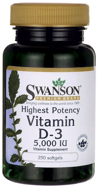 Swanson Premium Highest Potency Vitamin D-3 5000 IU